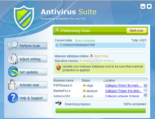 Antivirus Suite Malware