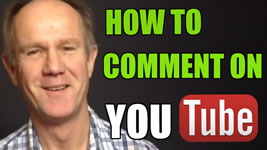 how to comment on youtube