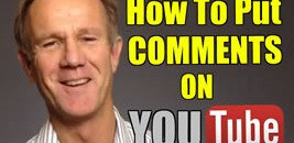 how to put comments on YouTube