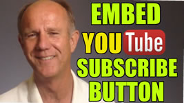 embed YouTube subscribe button