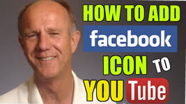 add facebook icon to youtube