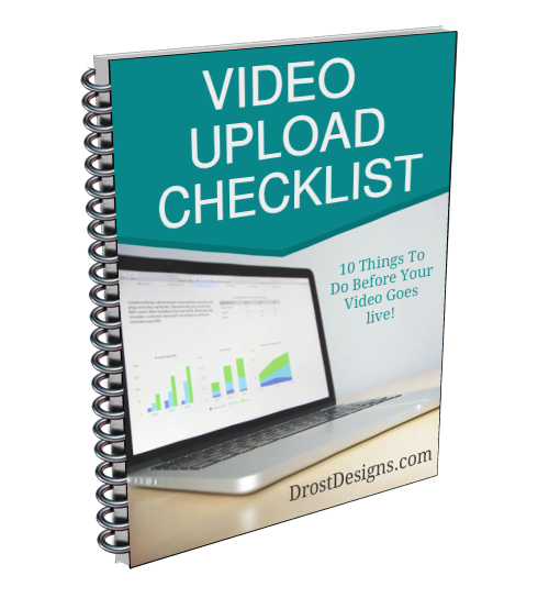 Video upload checklist