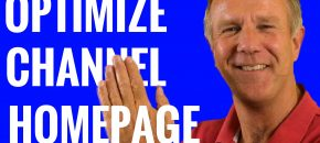 optimize youtube channel homnepage