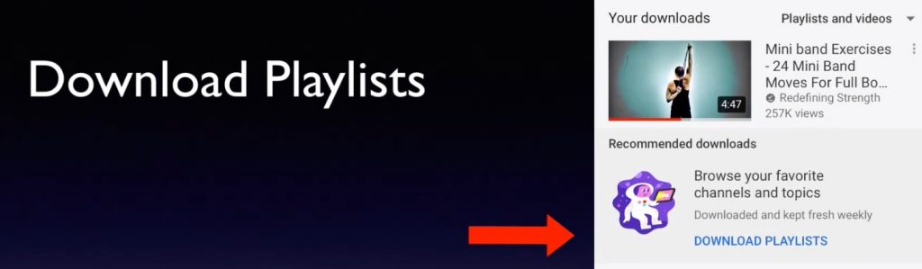 download playlists