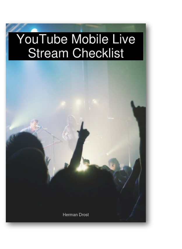 youtube live stream checklist