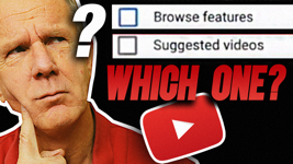 YouTube Browse Features vs Suggested Videos
