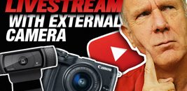 How To Livestream On YouTube With External Camera